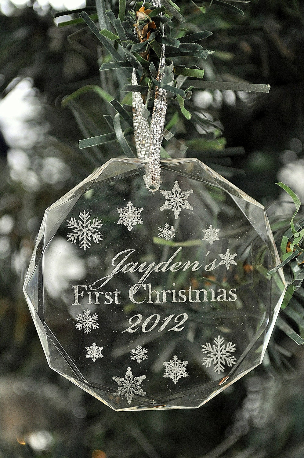 Personalized Crystal Christmas Ornaments