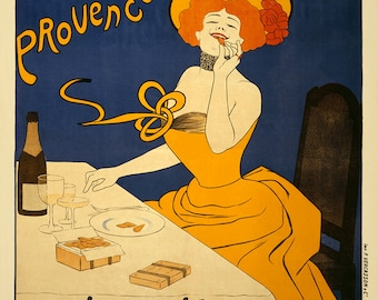 "Vintage French Advertising Poster, New Giclee Reproduction ""Amandines de Provence. Biscuits H. Lalo"" Poster c1900"