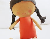 Doll Sewing Pattern Toy Cloth Doll Pattern PDF - Amber & Tilly