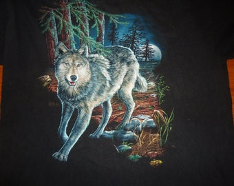 vintage tshirt LoNE WOLF at FuLL MOON XL extra large