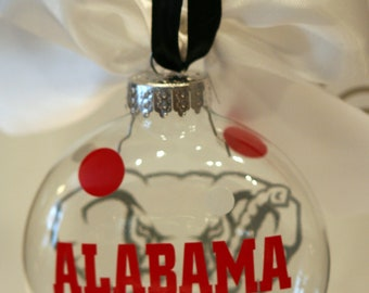 Alabama- Glass Ornament