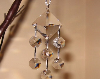 Chandelier Style Dangling 30% Lead Crystal Prism