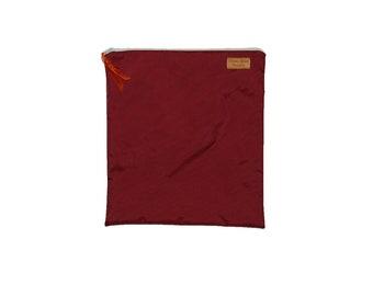 Gallon Size Reusable Bag - Waterproof Burgundy Nylon