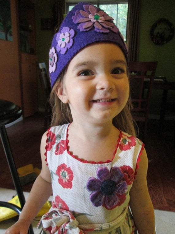 Magic Flower crown in wool felt, fits child to adult OTHER COLORS AVAILABLE