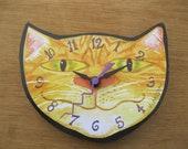 Ginger Cat Head Clock