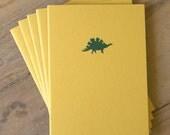 Dinosaur Notebooks  - Set of 5 Yellow Cahiers