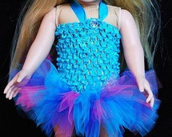 """2-Piece Abby Cadabby Inspired Tutu Outfit for 18"""" and 15"""" Dolls - Fits American Girl Dolls and My Generation Dolls"""
