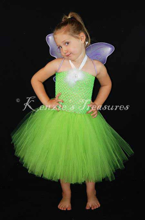 Traje del vestido Tutu Tinkerbell incluye por KenziesTreasures