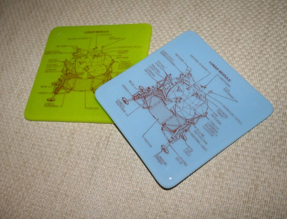 Lunar Module - printed coaster made to order in any colour