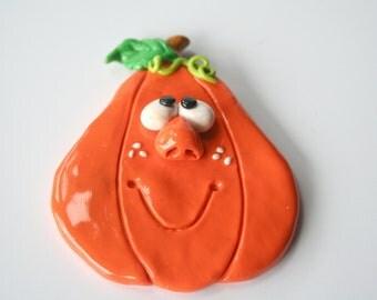 Goofy Pumpkin Fridge Magnet... Halloween/Thanksgiving