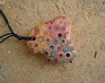 Coloured pencils - Necklace, Pencil, Swarovski crystal