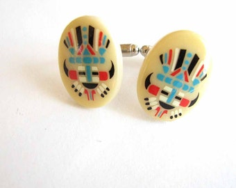 tribal cufflinks - american Indian style cuff links
