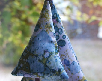 home decor fabric trees - sustainable and re-usable christmas decoration