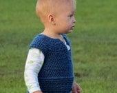 Instant PDF download Pattern for a 6-18 Month Reversible Textured Crochet Vest