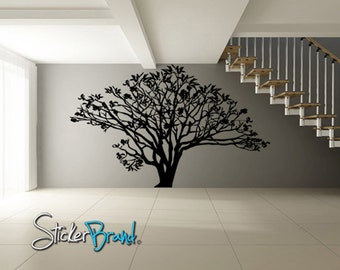 Vinyl Wall Decal Sticker Dogwood Tree AC152A 72in Tall x 96in Wide