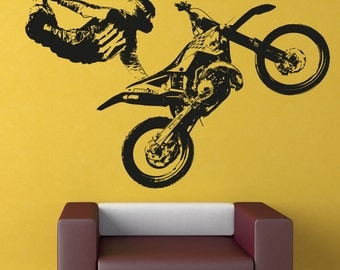 Vinyl Wall Decal Sticker Motocross Trick OSAA195B