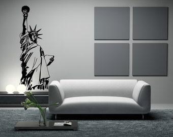 Vinyl Wall Decal Sticker NYC Statue of Liberty OSMB522m