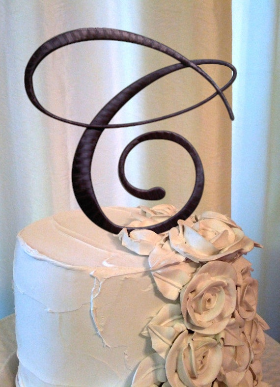 wedding cake toppers letters uk items similar to the letter c wedding cake topper in 26520