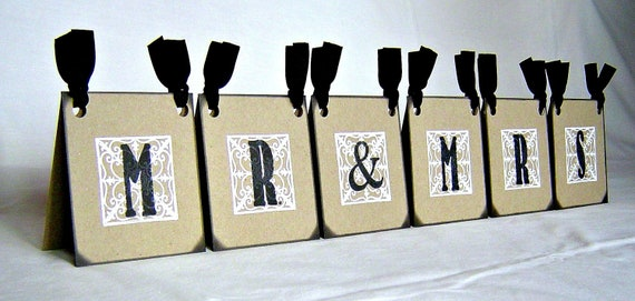 Mr & Mrs centerpiece, vintage inspired wedding reception sign, rustic wedding table decoration sweetheart table decor, reception party decor