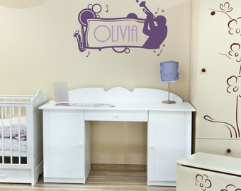 Jazz Name Frame - Vinyl Wall Decal