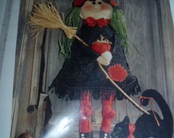 Witch Hilda Broom Boo Cat Door Craft Kit Halloween Decoration Happy Hollow Pattern
