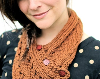 KNITTING PATTERN PDF File - Lacefield Knit Scarf Neckwarmer