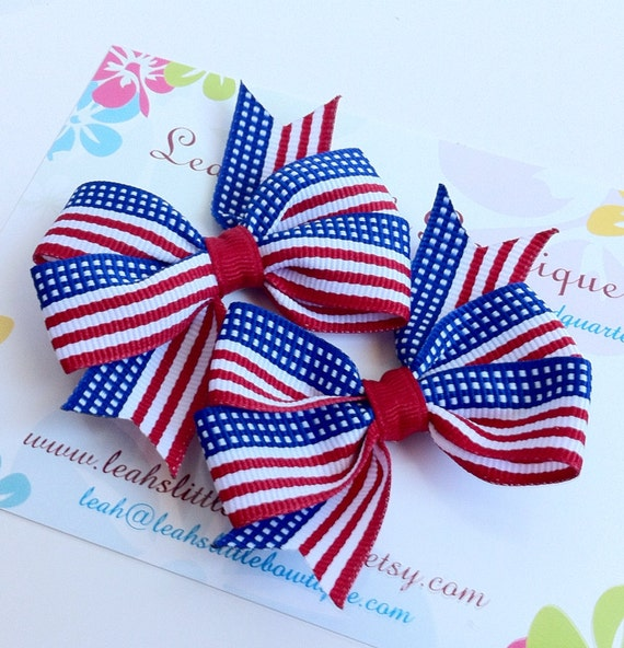 hair bows style patriotic hair bow set white and blue pinwheel style 8915 | il 570xN.470391848 9tt1