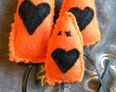 3 Orange and Black Catnip Scrap Mice
