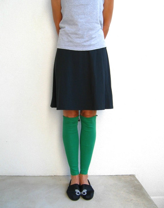 Emerald Green T Shirt Leg Warmers / Eco Chic / Teens / Girls / Winter / Cotton / Stretch / Cold Weather / Soft / Fashion / Fun / ohzie