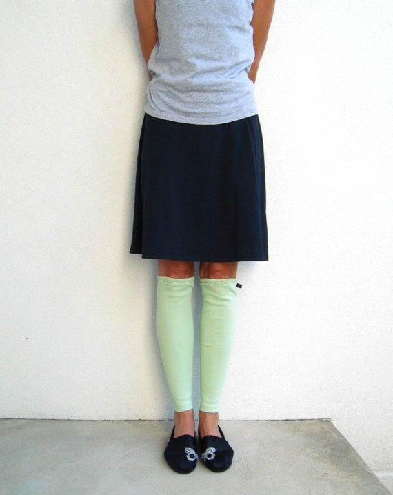 T Shirt Leg Warmers / Mint Green / Upcycled / Recycled / Teens / Girls / Fall / Winter / Cotton Stretch / Warm / Soft / Fashion / by ohzie