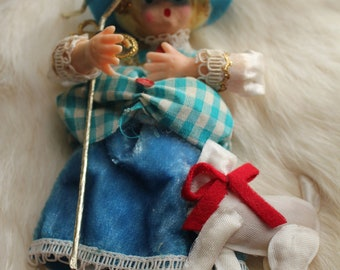Vintage Little Bo Peep Christmas Ornament 1960s