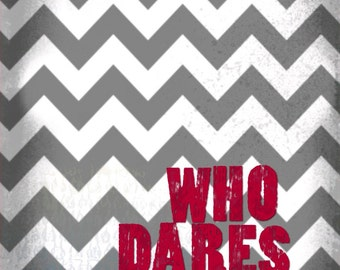 Who Dares Wins Chevron 16x20 Canvas Print - Motivational colorful bright