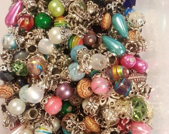 20 Beads Dangle Mixed Large Hole  Beads fit European Jewelry