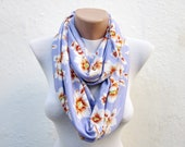 Jersey scarf Infinity scarf,Loop scarf,Circle Necklace scarf
