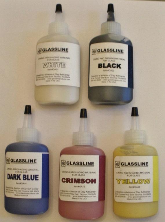 Glassline Fusing Paints Primary Colors Plus Black and ...