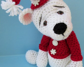 Crochet Pattern Polar Bear by Teri Crews instant download PDF format