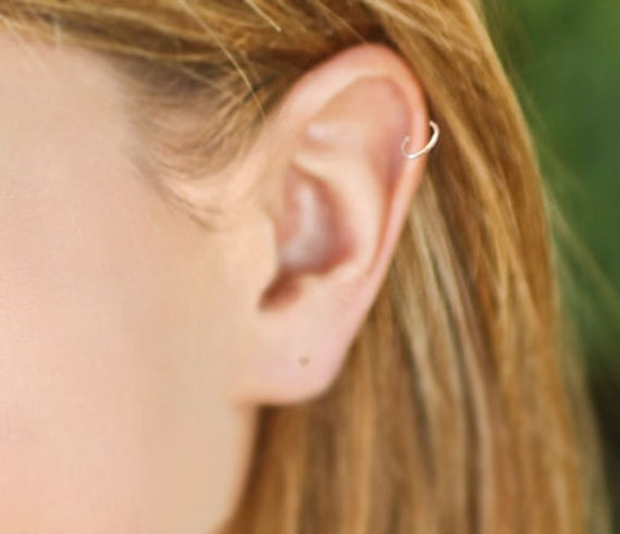 buy 3 get 4th free tiny seamless hoop cartilage by wirewrap
