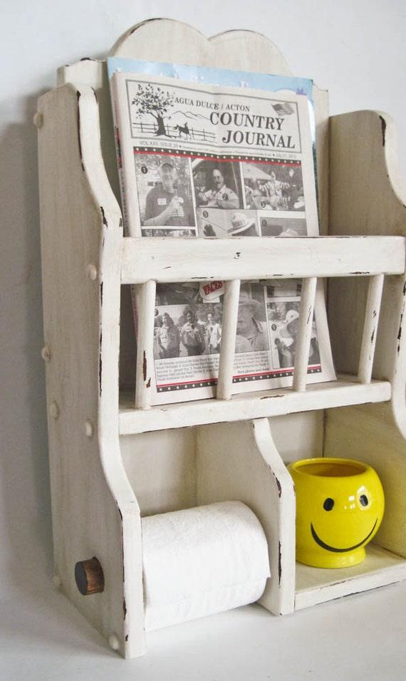 Bathroom Magazine Bath Tissue Holder Hand By Olliesfinethings