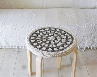 Crochet Round Stool Cover Only New Crochet Patterns