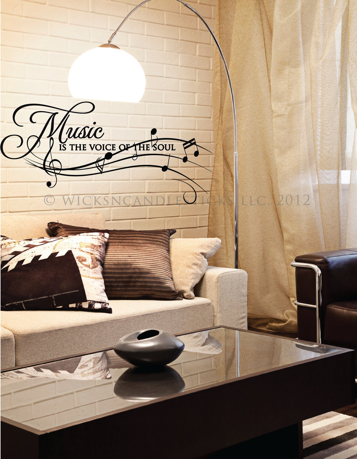 inspirational wall decals music is the voice by