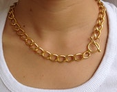 Gold Chunky Chain, Light Gold Chain, gift for her, gift for mom,gift for girlfriend