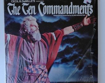 """Rare """"The Ten Commandments"""" (1973) Double LP - Excellent Condition"""