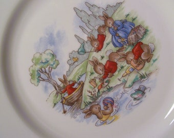 Vintage Bunnykins Plate by Royal Doulton  - 12-000