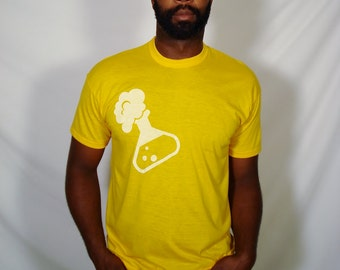 SALE Mad Scientist Potion on Vintage School Bus Yellow T-Shirt - Available in XL