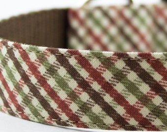 Autumn Mini Plaid Dog Collar