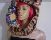 Tiger Festival / Fun Fur Animal Hood Hoodie With Vintage Button And Your Choice Of Lining. Batman