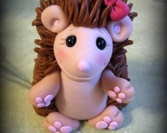 Hedgehog, Polymer Clay, Cake Topper, Birthday Cake Topper