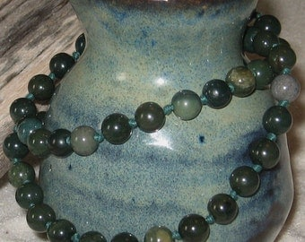 SALE!!!  Dark Green Serpentine Necklace