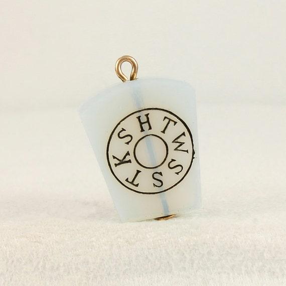 York Rite Masonic Vintage Pendant Charm Fob Keystone 10k
