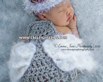 Lil' Angel Cuddle Cape Set Newborn Photography Prop